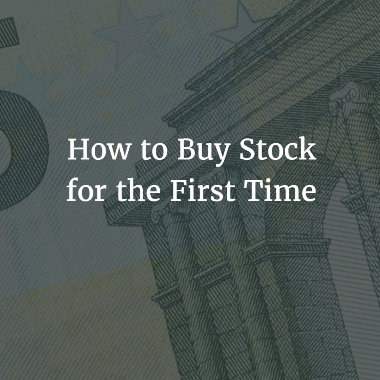 How to Buy Stock for the First Time