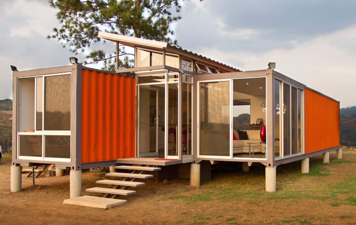 Container house manufacturers build eco friendly houses for Cheap builders